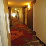 Der Flur im Hotel