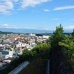韮崎観音から富士山を望む