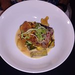 Striped Bass with Cress Grits