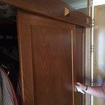 Wardrobe door hanging off