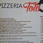 Pizzeria Toto Menu