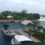 View of our 10 second pontoon ride to the Cay from the loft