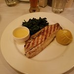 Grilled Rockfish with spinach