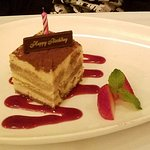 Complimantary Tiramisu for birthday
