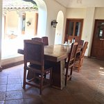 One of the smaller dining areas around the Courtyard