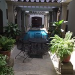 Last time we stayed in the building with the Nicaraguan flare! Loved this pool and sitting area.