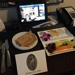 A sweet welcome from Mr. Kevin Stabile, Executive Lounge Manager...