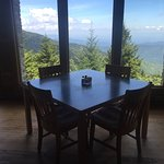 Inside restaurant - spectacular views of the Great Smokey Mts