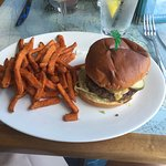 Cheeseburger in Paradise (with optional sweet potato fries)