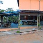 área de recepção e varanda