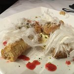 Deserts: baklava and mahalabia
