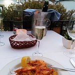Paella and cava on a warm Summer evening
