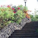viele Treppen die zum oder vom Strand führen
