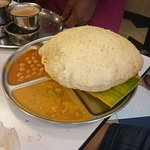 Bhatura is a bigger type of poori, perfect for sharing