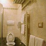 toilet, towel rack
