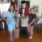 My daughter and Granddaughter, with Preston the butler