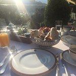 Agradable, rico y tranquilo desayuno