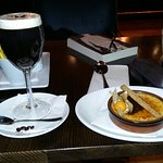 yummy pudding and Irish coffee
