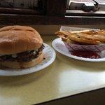 no frills, but good burger & fries