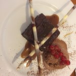 Choc Brownie with Chocolate Orange Ice Cream
