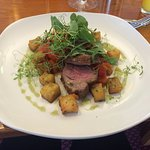 Lamb with Veg Ratatouille, Potatoes and Grilled Tomato