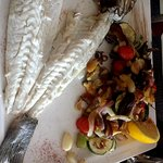 Loup de mer et légumes provençaux