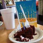 Cake AND a card. Thank you for making lunch so special.