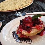Crumpets and berries