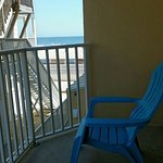 Partial Ocean view room,  have to be on the balcony to see the ocean / beach