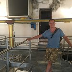 The vats where the grapes are crushed