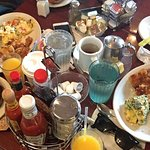 We loved this place. The variety of the food, fast service, delicious omlettes, fresh squeezed o