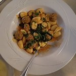 The meatball and gnocchi appetizer -- big enough for an entre