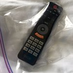Travel with zip lock bags - they're great for remote controls - no germs!