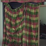 Curtains that coudln't be fixed during our stay in master bedroom