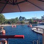 """vue du parc depuis l'attraction """"vélodos"""""""