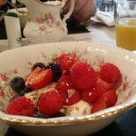 Scrumptious fruit, yogurt and seed sprinkles breakfast