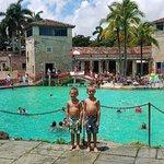 Our Denver grandsons at Venetian Pool