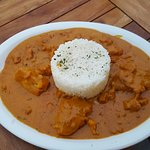 Monkfish masala sauce rice