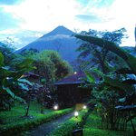 This was our bungalow at dusk, with Arenal overlooking!