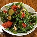 Watermelon, arugula, jalapeño salad--good but wanted more watermelon