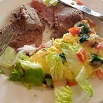 Roast Beef, Omelet and a little salad