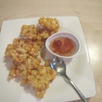 Appetizer of fried corn (fritters)