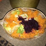 A delicious salad made of all local produce from the Bread Basket of Jamaica