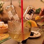 The bulldog, frozen Corona drink