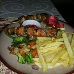 Chicken skewers were the best