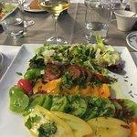 Salade aux quatre tomates