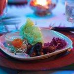 Belizean Fussion Cuisine Oxtail with cassava