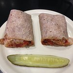 Chicken parmigiana wrap