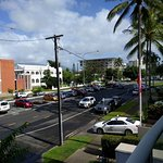 This was our Cairns 'sea view' (the advertising of this apt shows only the front of the building