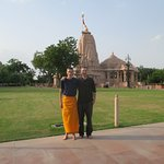 The Koteshwar Mahadev Temple (he was wearing shorts so had to cover up)